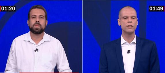 Globo mantém regra e descarta debate virtual entre Covas e Boulos