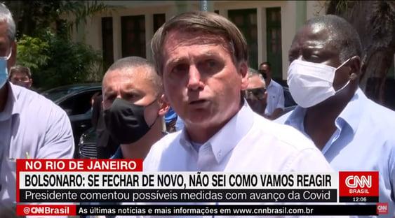 """Bolsonaro nega segunda onda: """"Quem está pegando agora é quem estava em casa"""""""