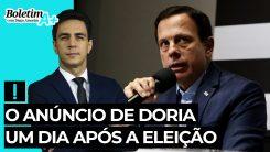 Boletim A+: o anúncio de Doria um dia após a eleição