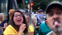 Bolsonaristas xingam mulher que usava máscara na Paulista