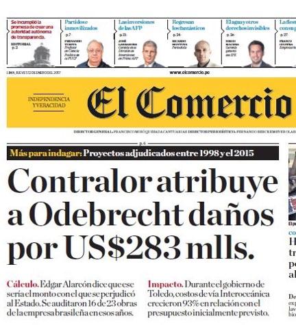 Peru endurece com Odebrecht