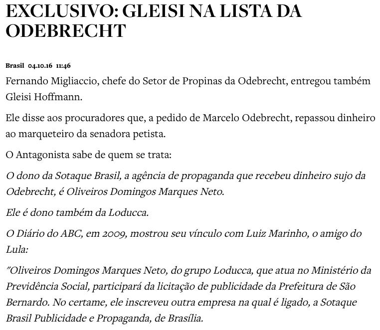 PF conclui inquérito sobre Gleisi e vê indícios de corrupção e lavagem