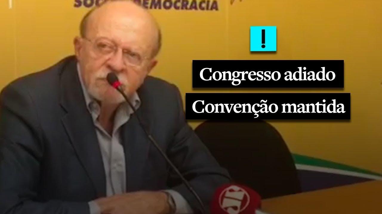 Com convenção, mas sem congresso