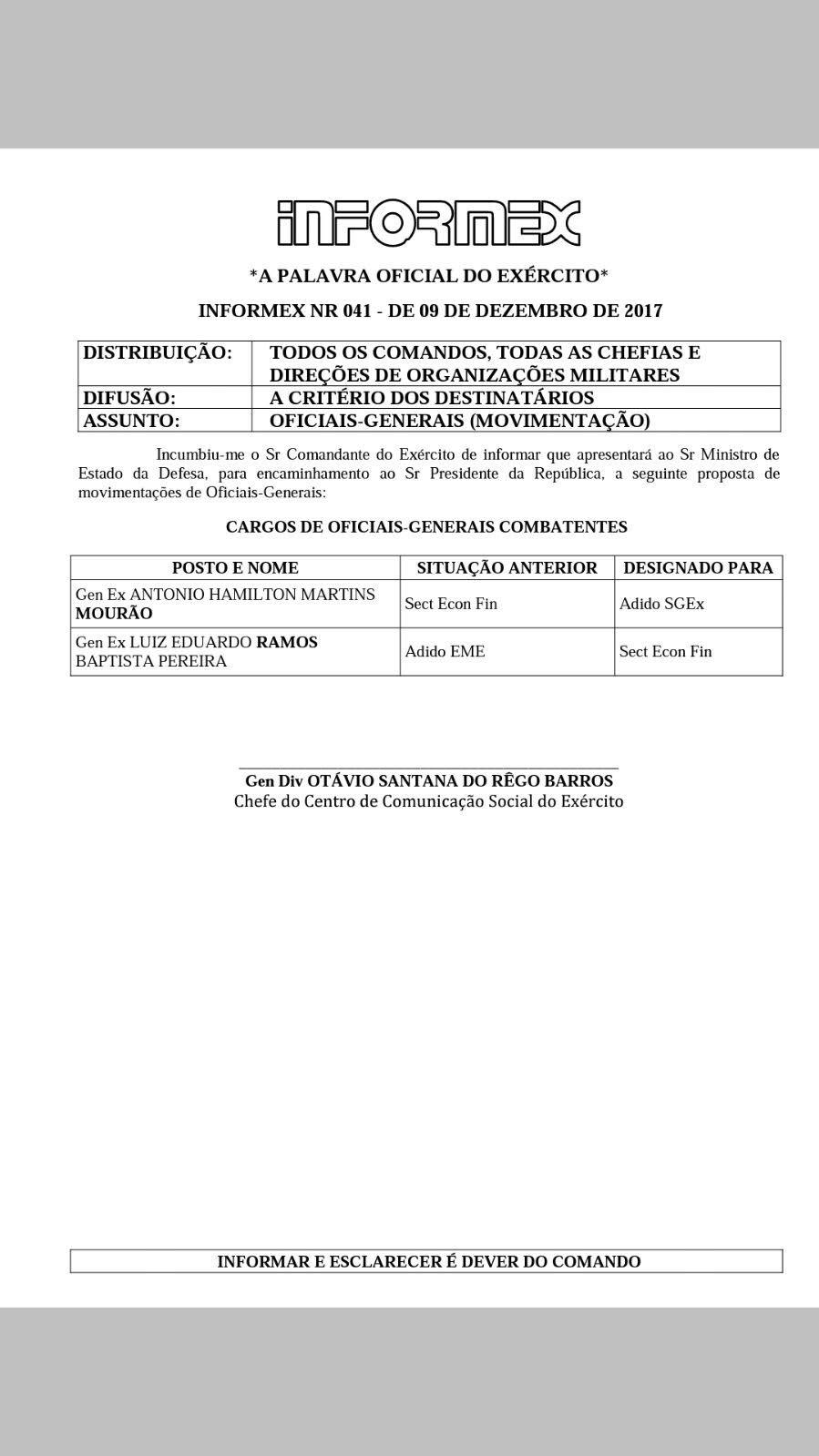 a266e13106b GENERAL MOURÃO É AFASTADO DE CARGO NO EXÉRCITO - O Antagonista