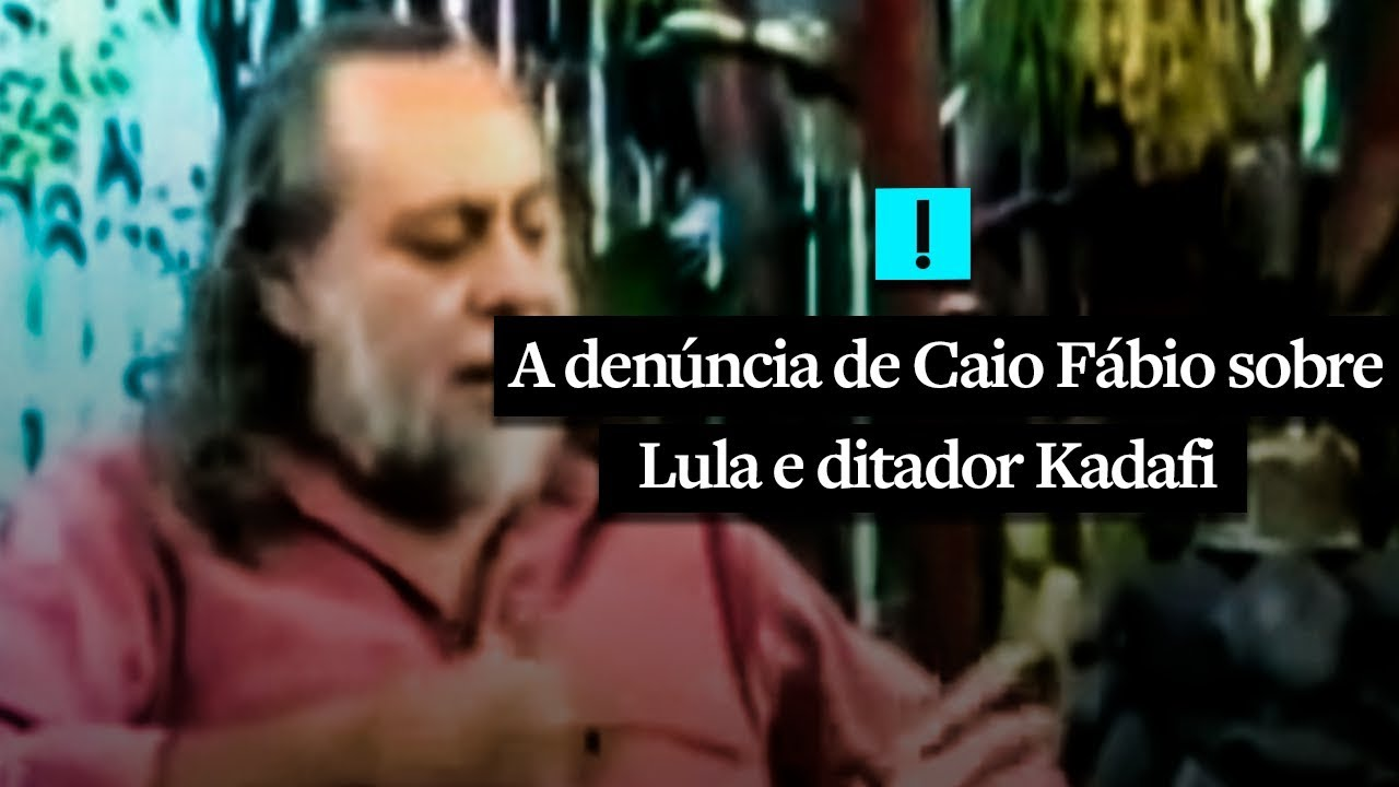 MPF poderá ouvir Caio Fábio, que falou em US$ 35 milhões de Kadafi para Lula