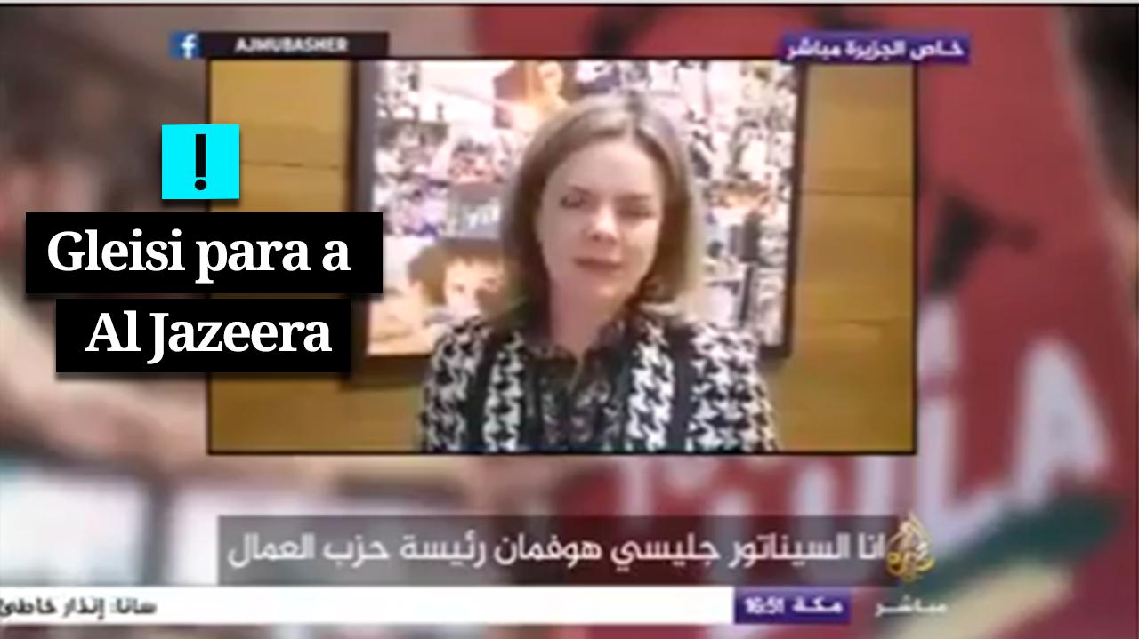 VÍDEO: Gleisi pede apoio do mundo árabe para soltar Lula