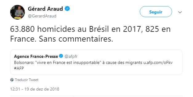 - Gerard Araud - Embaixador da França nos EUA rebate Bolsonaro no Twitter