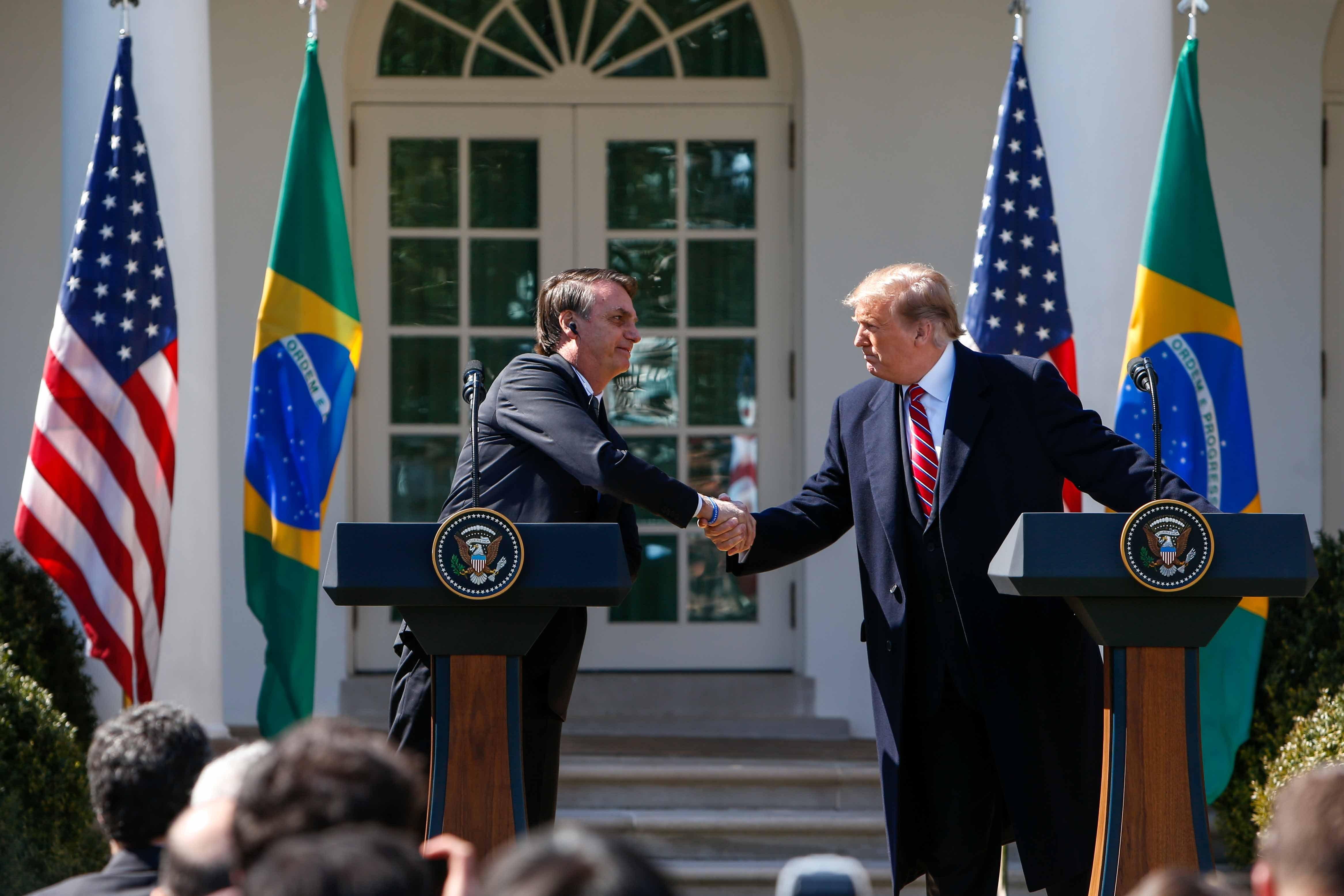 Bolsonaro e Trump fazem declaração à imprensa