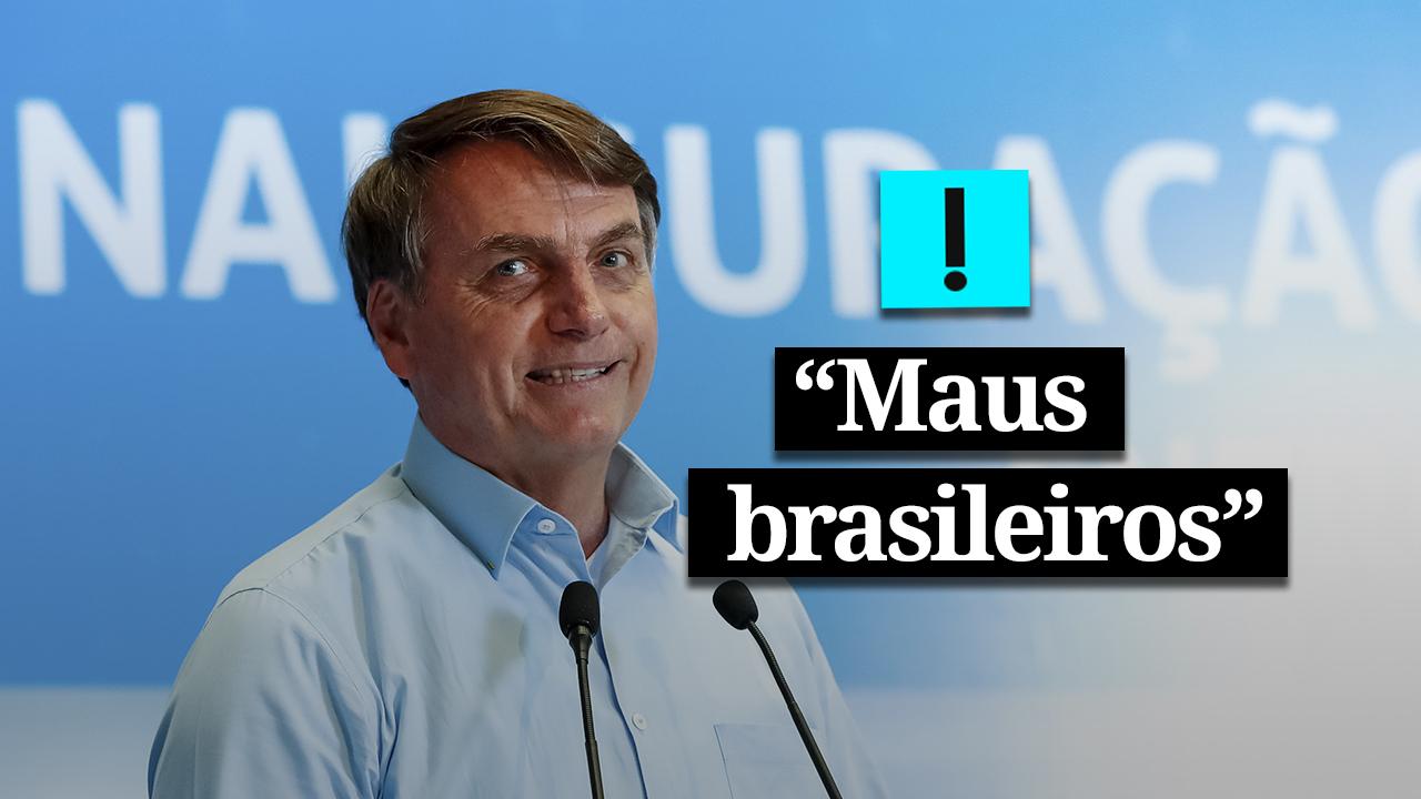 """""""Maus brasileiros"""" usam dados mentirosos sobre Amazônia, diz Bolsonaro"""