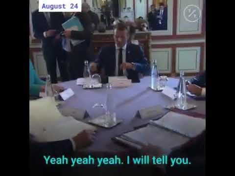 Vídeo: Merkel conversa com Macron sobre Bolsonaro