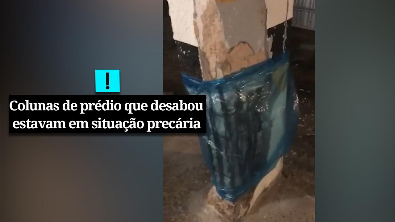 VÍDEO – A situação do prédio que desabou em Fortaleza