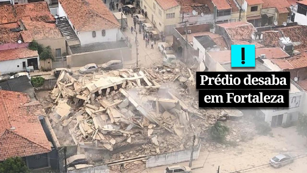 VÍDEO: Os escombros do prédio que desabou em Fortaleza