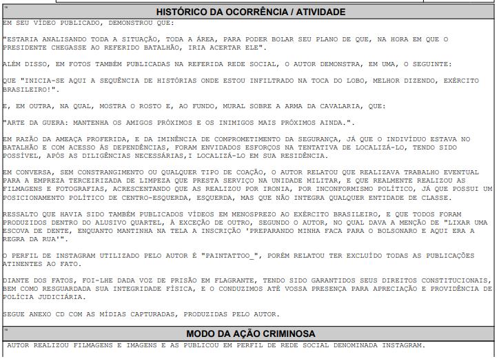 Policia Federal investiga incitação de atentado a Bolsonaro em Três Corações