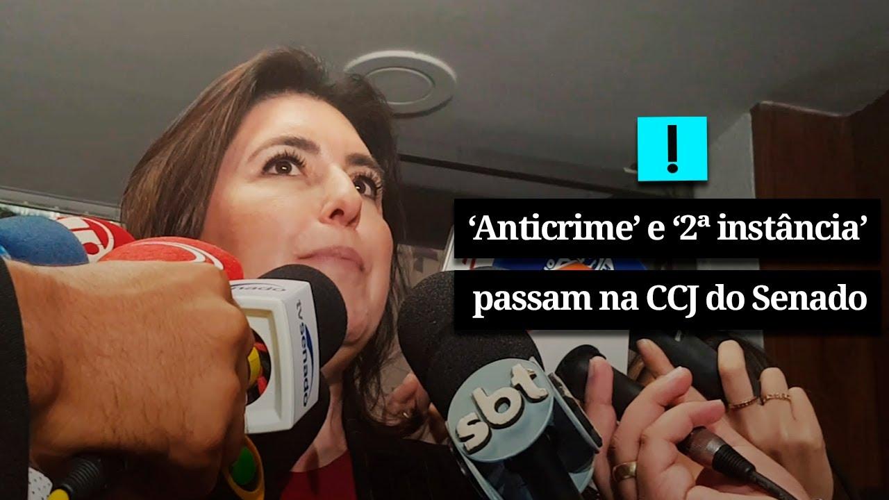 Vídeo: CCJ do Senado aprova anticrime e prisão em 2ª instância
