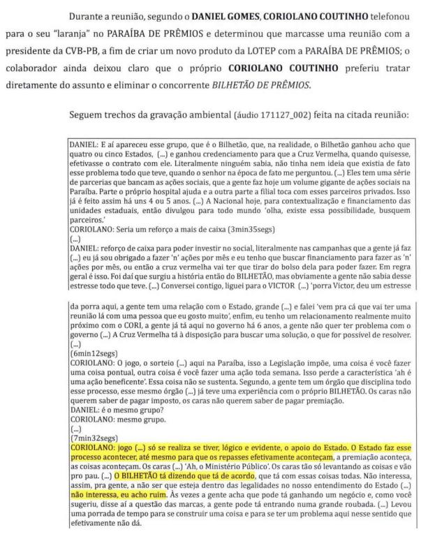 lotep1 - CALVÁRIO: O Antagonista traz trecho da delação de Daniel Gomes que cita presidente e vice da Cruz Vermelha em negócio com loteria da Paraíba