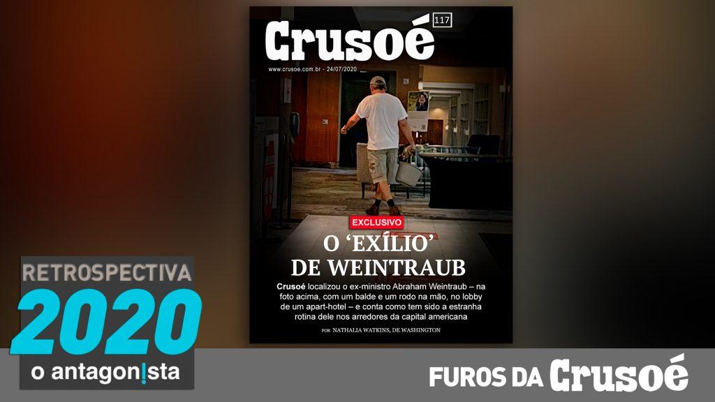 Furos da Crusoé: o exílio de Weintraub