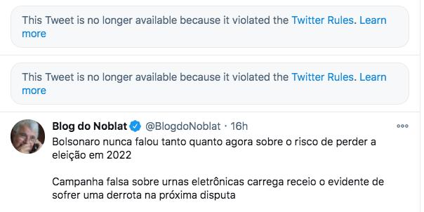Twitter apaga post de usuário que incentivava Suicídio de Bolsonaro