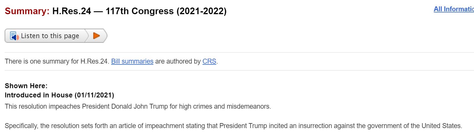 EUA Aprova Impeachment de Donald Trump por Insurreição