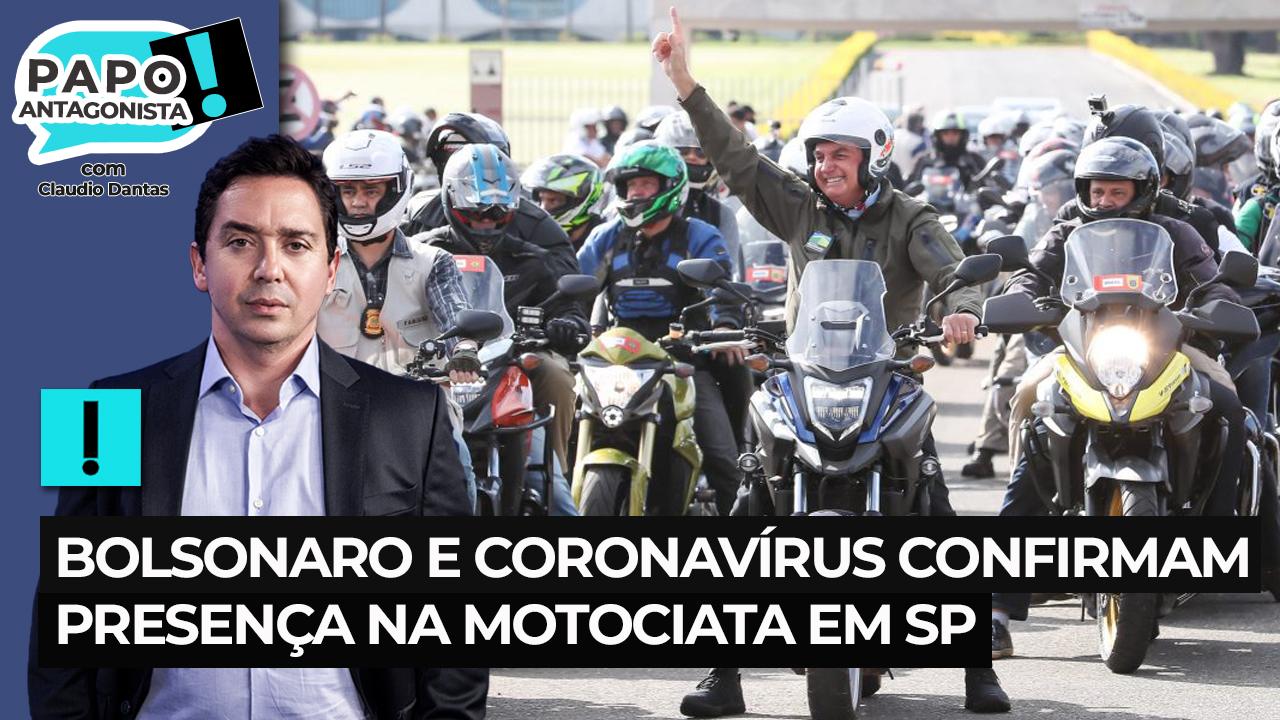 Bolsonaro e coronavírus confirmam presença na motociata em SP