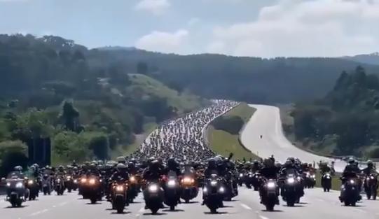 Esquema de segurança para motociata de Bolsonaro custou R$ 1,2 milhão