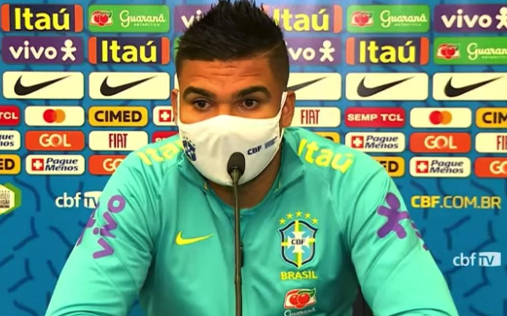 """Casemiro: """"Não estávamos contentes com a Copa América no Brasil"""""""