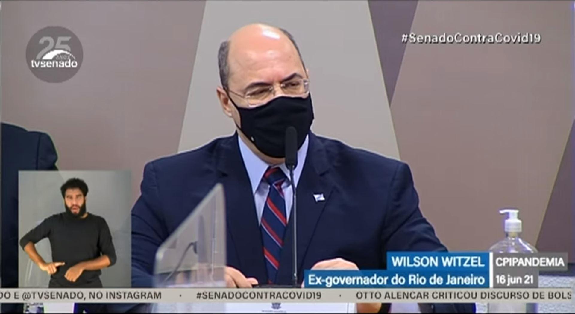 """Witzel na CPI: """"Quantos crimes Bolsonaro vai cometer até que alguém pare ele?"""""""
